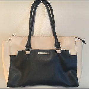 Beige and black Nine West bag